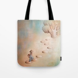Climbing a Tree Tote Bag