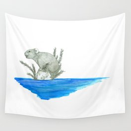 PIKA IN AN ISLAND Wall Tapestry