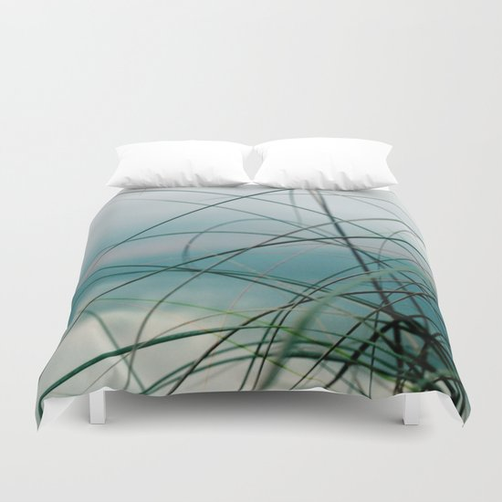 Beach Grass and Sea Duvet Cover