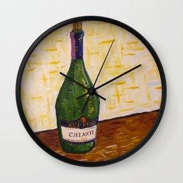 Still Life with Chianti Bottle Wall Clock