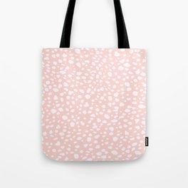Pink Coral Polka Dots Tote Bag