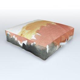 Abstract in Rust n Clay Outdoor Floor Cushion