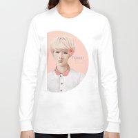 exo Long Sleeve T-shirts featuring Flower Boy - Luhan by emametlo