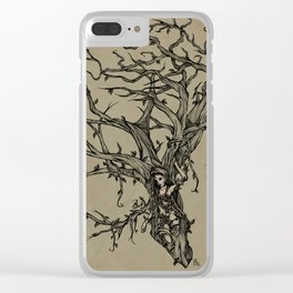 Elf Tree Clear iPhone Case