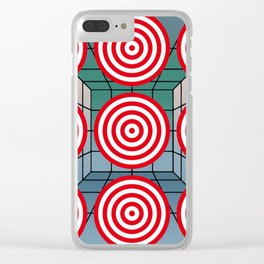 Shooting gallery with targets Clear iPhone Case