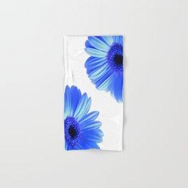 Blue Gerbera Flowers Hand & Bath Towel