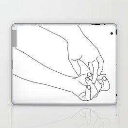 Hands line drawing illustration - Esther Laptop & iPad Skin