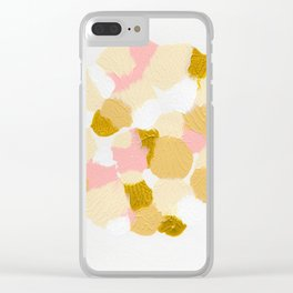 Gold pink Clear iPhone Case