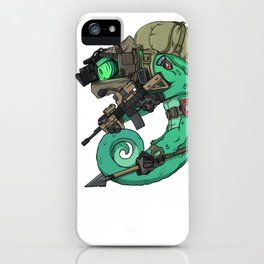 Chameleon Special Force Military with spear gift ideas iPhone Case
