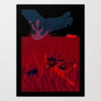 diver Art Prints featuring Diver by Claudia Noronha