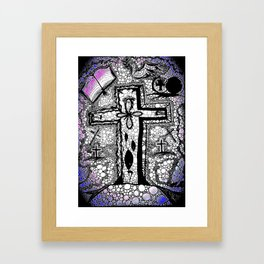 He is Risen - B/W Framed Art Print