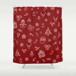 Xmas Red Shower Curtain