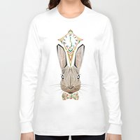 rabbit Long Sleeve T-shirts featuring rabbit by Manoou