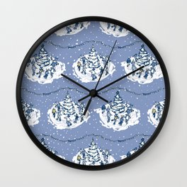 Let's Go Ice Skating at Night! – Xmas Edition Wall Clock