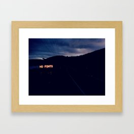 NO FONTS Framed Art Print