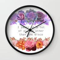 panic at the disco Wall Clocks featuring Panic! by Midnight Mania
