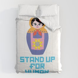 Stand for Human Rights—Female Nesting Doll Comforters