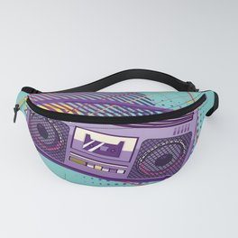 Funky 80s portable radio cassette player, a boombox Fanny Pack