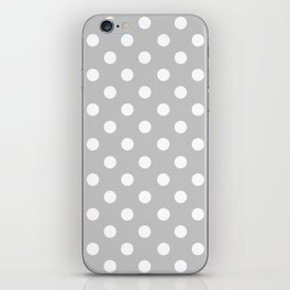 Polka Dots (White & Gray Pattern) iPhone Skin