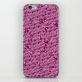 Microchip Pattern (Purple) iPhone Skin