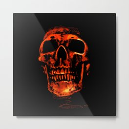 Death in Red Metal Print