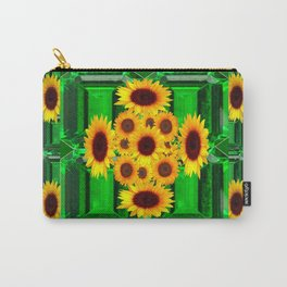 SPRING GREEN YELLOW FLOWERS  ART DECORATIVE  DESIGN Carry-All Pouch