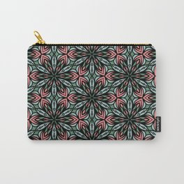 Geometric Flowers Carry-All Pouch
