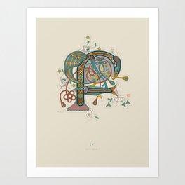 Celtic Initial F Art Print