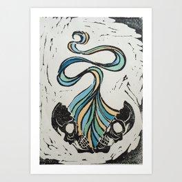 Energy Skull Art Print