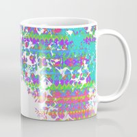 fringe Mugs featuring Fringe Floral by Ruby Valderama