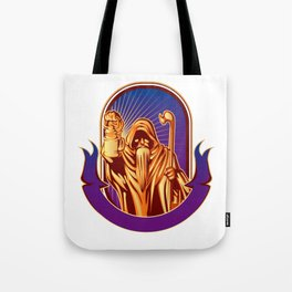 Hermit holding lamp Tote Bag