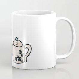 Kawaii country teapot and cup cartoon illustration Coffee Mug