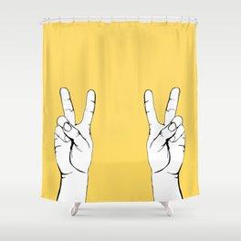 Peace I Shower Curtain