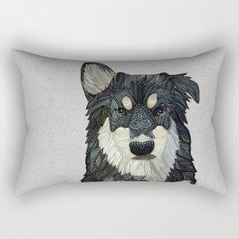 Bjorn - Malamute Samoyed Husky Mix Rectangular Pillow