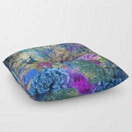 The Royal Peacock Floor Pillow
