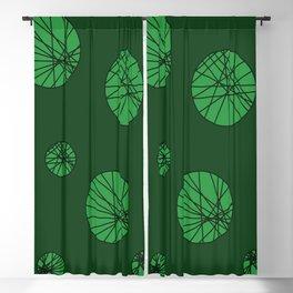 Green Bubbles Blackout Curtain