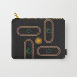 Light and Power Abstract Geometric Design Carry-All Pouch