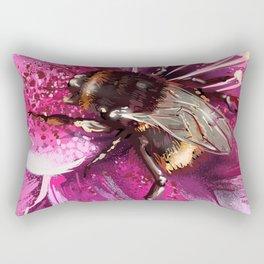 Bee on flower 13 Rectangular Pillow