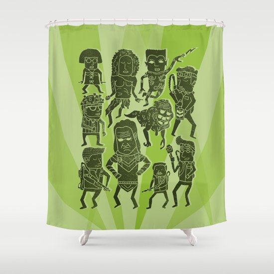 The Firehouse Shower Curtain