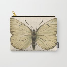 Antique Pale Green Butterfly Lithograph Carry-All Pouch