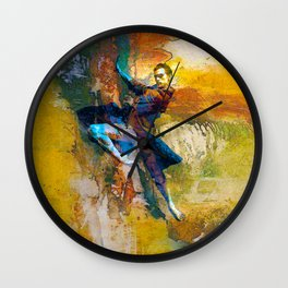 Abstract Dancer Wall Clock