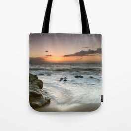 Sunset Over the Rocks Tote Bag