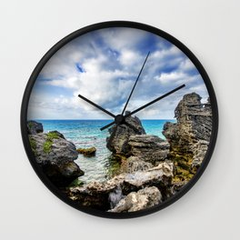 Tobacco Bay Beach, Bermuda Wall Clock
