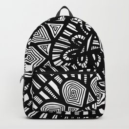 Black and White Doodle 7 Backpack
