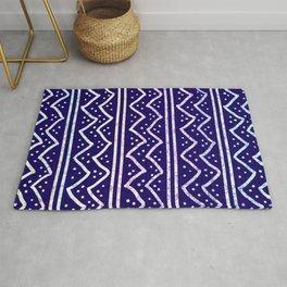 Blue Batik Pattern Rug