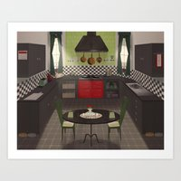 kitchen Art Prints featuring Kitchen by Fran Court