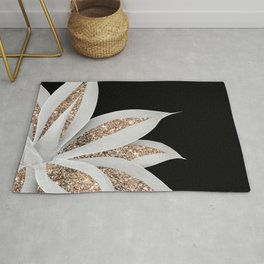 Agave Finesse Glitter Glam #6 #tropical #decor #art #society6 Rug