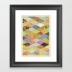RHOMB SOUP / PATTERN SERIES 002 Framed Art Print