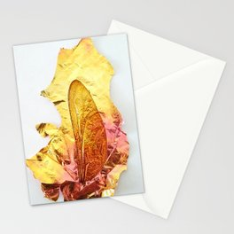 Dragonfly Wing with Iridescent Brass Stationery Cards