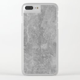 Simply Concrete II Clear iPhone Case